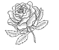 Frantic Stamper Cling-Mounted Rubber Stamp - Rose #1