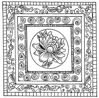 Frantic Stamper Cling-Mounted Rubber Stamp - Framed Rose