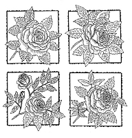 Frantic Stamper Cling-Mounted Rubber Stamp - 4 Roses