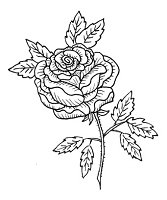 Frantic Stamper Cling-Mounted Rubber Stamp - Rose #2