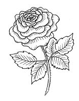 Frantic Stamper Cling-Mounted Rubber Stamp - Rose #3
