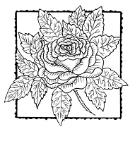 Frantic Stamper Cling-Mounted Rubber Stamp - Rose Square #3