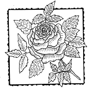 Frantic Stamper Cling-Mounted Rubber Stamp - Rose Square #4