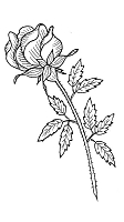 Frantic Stamper Cling-Mounted Rubber Stamp - Long Stem Rose
