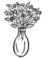 Frantic Stamper Cling-Mounted Rubber Stamp - Sm Rose Vase