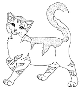Frantic Stamper Cling-Mounted Rubber Stamp - Striped Kitty