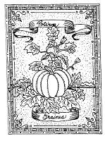 Frantic Stamper Cling-Mounted Rubber Stamp - Pumpkin Seeds