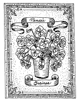 Frantic Stamper Cling-Mounted Rubber Stamp - Pansy Seeds