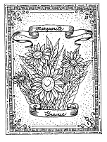 Frantic Stamper Cling-Mounted Rubber Stamp - Daisy Seeds