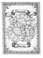 Frantic Stamper Cling-Mounted Rubber Stamp - Sunflower Seeds