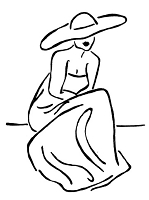 Frantic Stamper Cling-Mounted Rubber Stamp - Sitting Lady