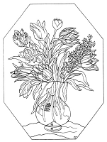 Frantic Stamper Cling-Mounted Rubber Stamp - Vase of Tulips
