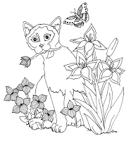 Frantic Stamper Cling-Mounted Rubber Stamp - Lg Summer Cat