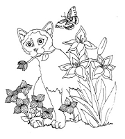 Frantic Stamper Cling-Mounted Rubber Stamp - Sm Summer Cat