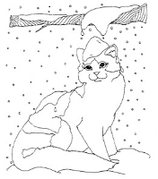 Frantic Stamper Cling-Mounted Rubber Stamp - Sm Winter Cat