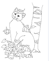 Frantic Stamper Cling-Mounted Rubber Stamp - Lg Fall Cat