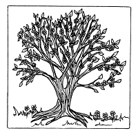 Frantic Stamper Cling-Mounted Rubber Stamp - Lg Spring Tree