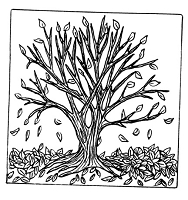 Frantic Stamper Cling-Mounted Rubber Stamp - Lg Autumn Tree