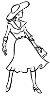 Frantic Stamper Cling-Mounted Rubber Stamp - Frilly Skirt Lady