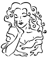 Frantic Stamper Cling-Mounted Rubber Stamp - Sighing Lady