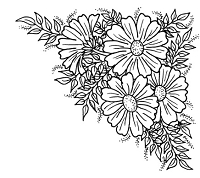 Frantic Stamper Cling-Mounted Rubber Stamp - Daisy Corner