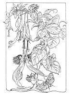Frantic Stamper Cling-Mounted Rubber Stamp - Fuchsia Fairies