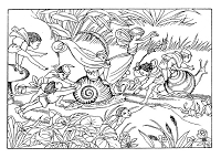 Frantic Stamper Cling-Mounted Rubber Stamp - Snail Fairies