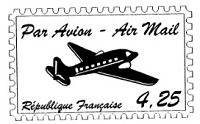 Frantic Stamper Cling-Mounted Rubber Stamp - Air Mail Post