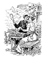 Frantic Stamper Cling-Mounted Rubber Stamp - Couple in the Alps