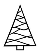 Frantic Stamper Cling-Mounted Rubber Stamp - Triangle Christmas Tree