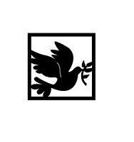Frantic Stamper Cling-Mounted Rubber Stamp - Peace Dove Squared