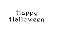 Frantic Stamper Cling-Mounted Rubber Stamp - Curly Happy Halloween