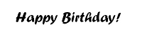 Frantic Stamper Cling-Mounted Rubber Stamp - Happy Birthday