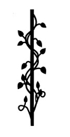 Frantic Stamper Cling-Mounted Rubber Stamp - Pole with vines