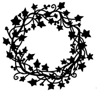 Frantic Stamper Cling-Mounted Rubber Stamp - Ivy Wreath