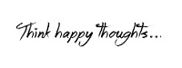 Frantic Stamper Cling-Mounted Rubber Stamp - Think Happy Thoughts