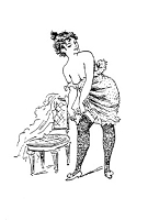Frantic Stamper Cling-Mounted Rubber Stamp - Dressing Naughty Lady