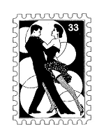 Frantic Stamper Cling-Mounted Rubber Stamp - Tango Post