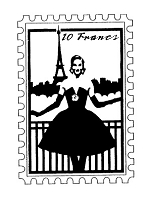 Frantic Stamper Cling-Mounted Rubber Stamp - Paris Lady Post