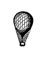 Frantic Stamper Cling-Mounted Rubber Stamp - Sm. Balloon