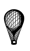 Frantic Stamper Cling-Mounted Rubber Stamp - Med Balloon