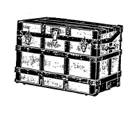 Frantic Stamper Cling-Mounted Rubber Stamp - Chest