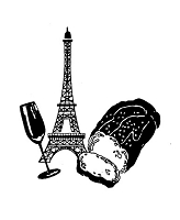 Frantic Stamper Cling-Mounted Rubber Stamp - Bread/Wine/Tower