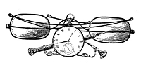 Frantic Stamper Cling-Mounted Rubber Stamp - Spectacles & Watch