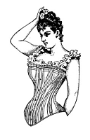 Frantic Stamper Cling-Mounted Rubber Stamp - Corset Lady