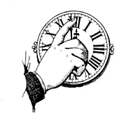 Frantic Stamper Cling-Mounted Rubber Stamp - Hand/Clock