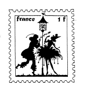 Frantic Stamper Cling-Mounted Rubber Stamp - Pierrot Post #1