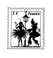 Frantic Stamper Cling-Mounted Rubber Stamp - Pierrot Post #2
