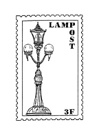 Frantic Stamper Cling-Mounted Rubber Stamp - Lamp Post