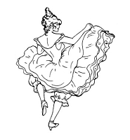 Frantic Stamper Cling-Mounted Rubber Stamp - Can Can Dancer